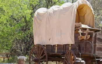 Chuckwagon (Planwagen aus Holz) in Arizona