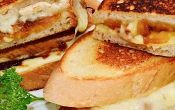 Grilled Cheese Sandwich Nahaufnahme