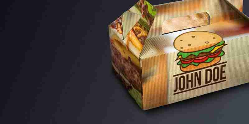 individuelle Verpackung Foodtruck Burger