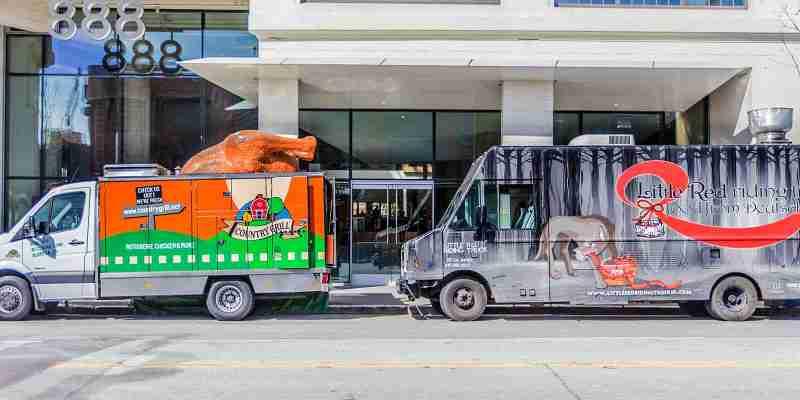 Hähnchen-Truck und Rotkäppchen Foodtruck San Francisco
