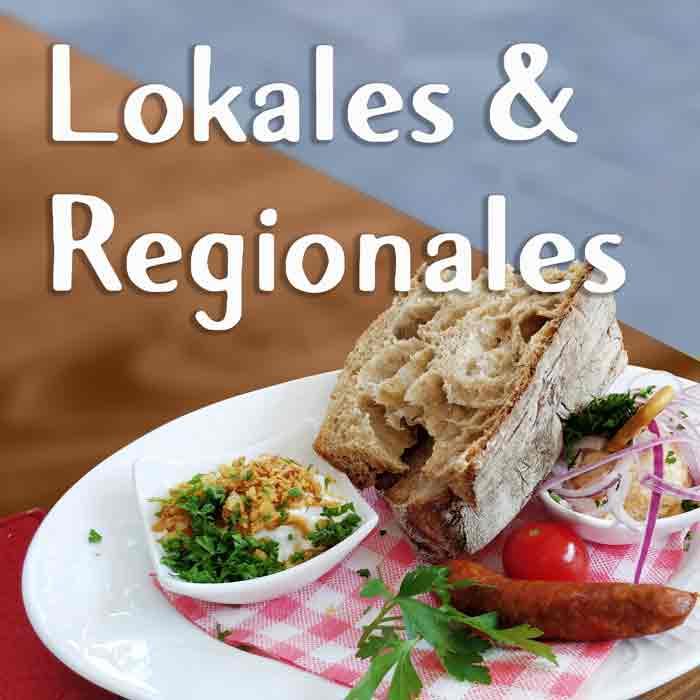 Dipp, Brot, Gemüse, Wurst lokales und regionales Street Food