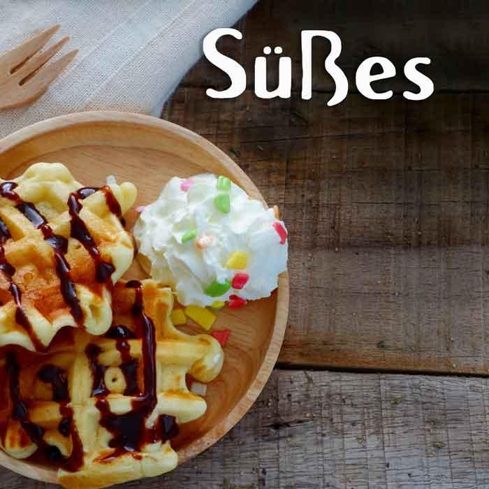 Süßes und Desserts Street Food