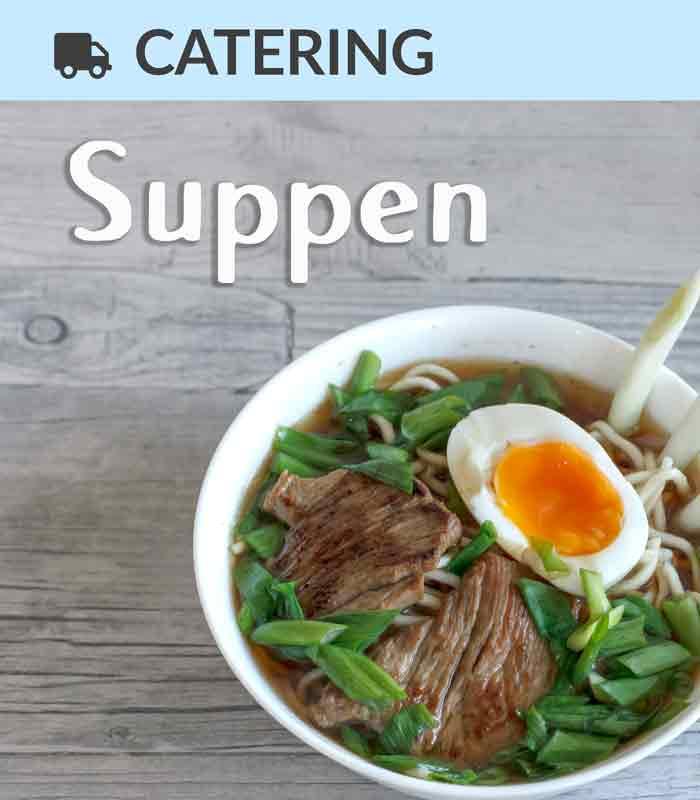 Catering Foodtruck Suppen mit einer Bowl Ramen im Hintergrund