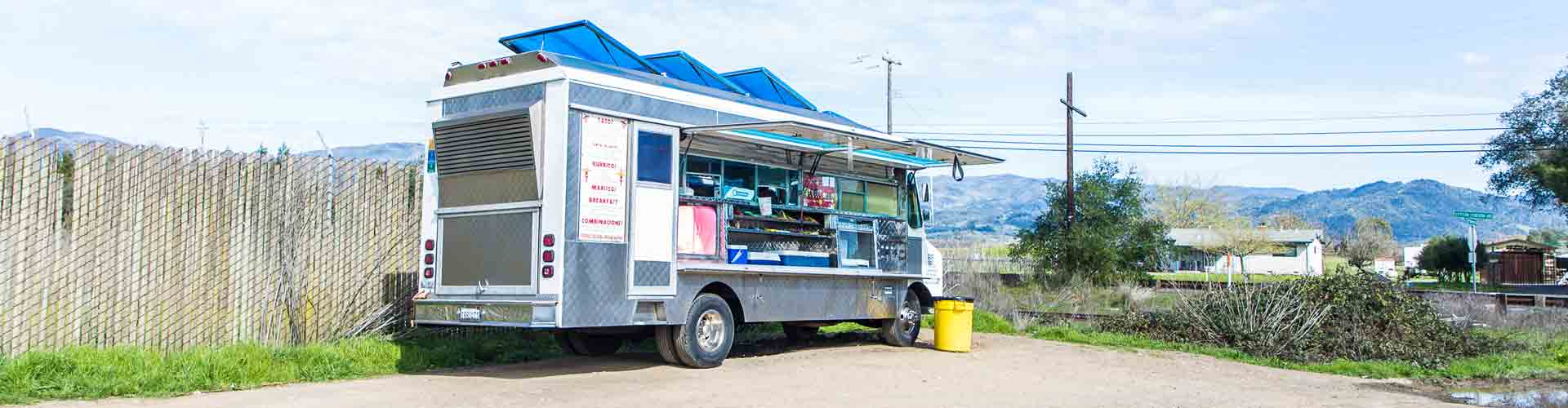 Taco-Foodtruck Landschaft Kalifornien Napa Valley